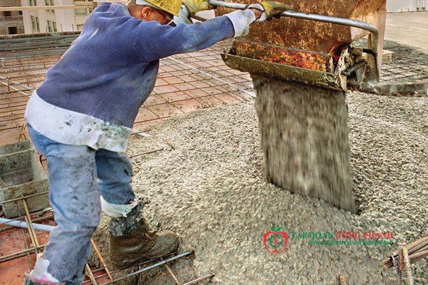đổ mái bằng bê tông tươi